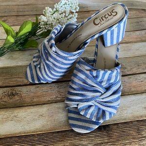 Circus by Sam Edelman Blue White Stripe Sandals